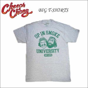 Cheech & Chong ビッグTシャツ UPINSMOKE/ライトグレー(M/L/XLサイズ)チーチ&チョン 大人サイズ ネコポス発送可能|aicamu