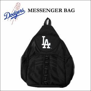 ドジャース メッセンジャーバッグ(フロントジップポケット)L.A.DODGERS MESSENGER BAG大き目サイズ 斜め掛けカバン リュック バックパック aicamu