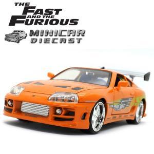 ミニカー 1/24 箱入り ワイルドスピード Brian's TOYOTA SUPRA オレンジ