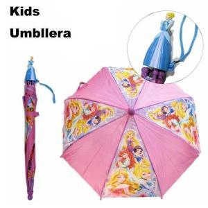 #86 ディズニープリンセス シンデレラ マスコット 子供用 傘 親骨の長さ:約41cm|aicamu