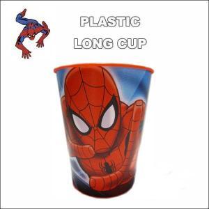 #02 スパイダーマン ロングカップ(レッド) キッズにちょうど良い スパイダーマングッズペン立てにも使えるマーベルアメコミ|aicamu