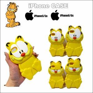 ガーフィールドスマホケース(シリコン)iPhone5/5S/6/6s garfieldグッズ iphoneカバー スマートフォンケース|aicamu