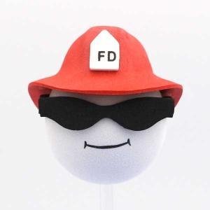 アンテナトップ【COOL!FIRE DEPT】自動車 自転車やインテリアにFIRE MAN消防士アンテナボール アンテナトッパー|aicamu