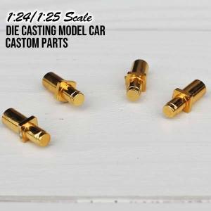 1:24/1:25 カスタムパーツ ハイドロポンプ(ゴールド) 4個1セット ミニカー プラモデルパーツ Pegasus社製 1050 Pumps Gold|aicamu