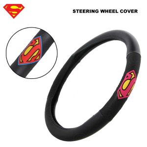 SUPERMAN ステアリング ホイールカバー スーパーマン車内アクセサリハンドルカバーアメ車STEERING WHEEL COVER|aicamu