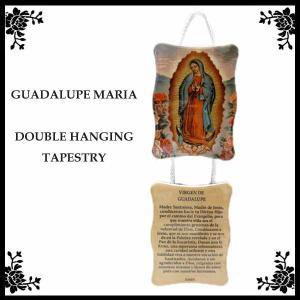 グアダルーペマリア2連ハンギングプレートタペストリー マリア様雑貨 メキシコ グッズ GUADALUPE MARIA MEXICO アメリカ雑貨|aicamu