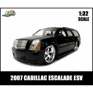 1/32スケール プルバックミニカー 2007 CADILLAC ESCALADE ESV(ブラック)】2007年キャデラックエスカレード アメ車 JADATOYS社製 1:32|aicamu