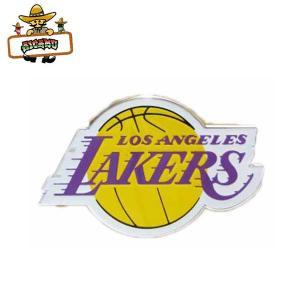 レイカーズ エンブレムシール NBA LOSANGELES LAKERS 車に使える便利なカーアクセサリー TEAM EMBLEM AUTOMOTIVE ネコポス発送可能|aicamu