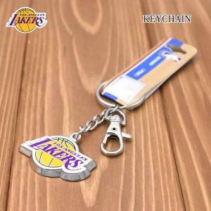 レイカーズフック付メタルキーチェーン NBA LOSANGELES LAKERS公式ライセンスグッズキーホルダー ネコポス発送可能|aicamu