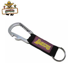 レイカーズカラビナキーホルダー NBA LOSANGELES LAKERSキーリング キーチェーン公式ライセンスアメリカ直輸入 ネコポス発送OK|aicamu