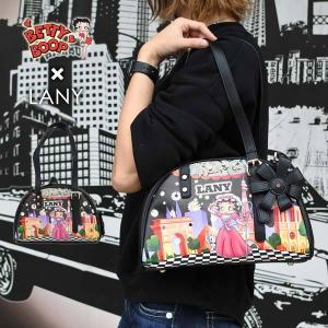 ベティ・ブープ 2WAYボストンポシェットバッグ 小さ目バッグとポシェットになる肩紐付き ベティちゃんグッズBETTY BOOP|aicamu