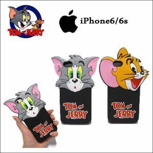 トム&ジェリースマホケース(シリコン)iPhone6/6s tom&jerryグッズ iphoneカバー スマートフォンケース ネコポス発送可能|aicamu