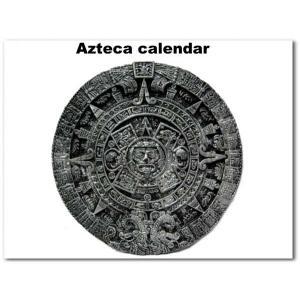 #07 アステカカレンダー 壁掛けオブジェ 直径:約27.5cm(シルバー)アメリカ直輸入 MEXICOAZTECAの暦石インテリア飾り|aicamu
