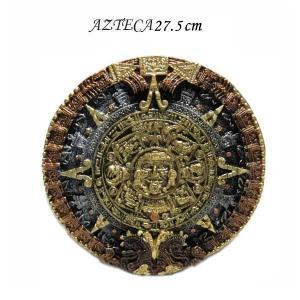 #10 アステカカレンダー 壁掛けオブジェ 直径:約13cm(3パターンカラー)アメリカ直輸入 MEXICOAZTECAの暦石インテリア飾り|aicamu