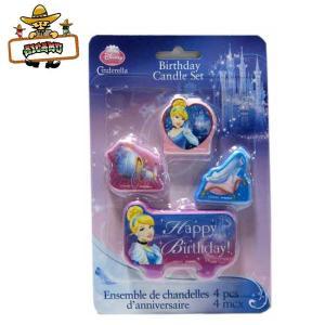 ディズニープリンセス グッズ シンデレラパーティーキャンドルセット(4ピース)お誕生日ケーキ|aicamu