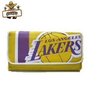 レイカーズチームウェア素材財布 アメリカ直輸入 おさいふ ウォレットNBALos Angeles Lakers グッズ三つ折り長財布|aicamu