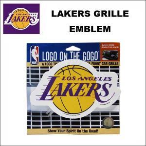 LOS ANGELES LAKERS グリルエンブレム 車のグリルに簡単取り付け カーアクセサリー NBA LA レイカーズ レイカースグッズ ネコポス発送可能|aicamu