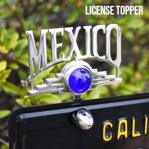 プラーク MEXICO(ブルードット) ローライダー ナンバープレートアクセサリー♪メキシコ カスタムパーツ CAR PLAQUE LOWRIDER|aicamu