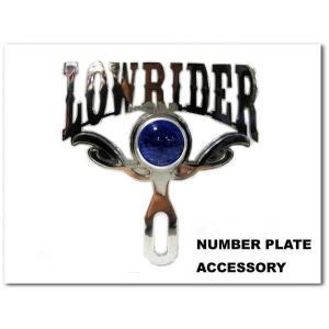 プラーク LOWRIDER(ブルードット)ローライダーなら絶対にほしいナンバープレートアクセサリー カスタムパーツ CAR PLAQUE LOWRIDER|aicamu