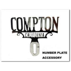 プラーク COMPTON CALIFORNIA コンプトン カリフォルニア ローライダー ナンバープレートアクセサリー カスタムパーツ CAR PLAQUE|aicamu