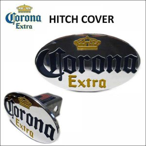 Corona Extra アルミヒッチカバー アメリカ直輸入ヒッチメンバー ヒッチプラグオシャレなカーアクセサリー コロナ エキストラ ビール|aicamu