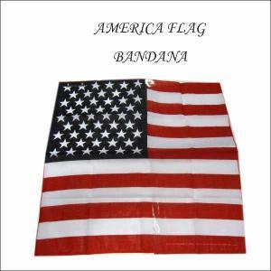 アメリカ星条旗柄バンダナ アメリカ国旗 AMERICA FLAG アメリカ直輸入 ネコポス発送可能|aicamu