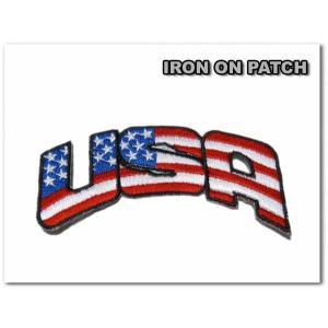ワッペン 星条旗USA 刺繍 アイロン 車 アメリカ|aicamu