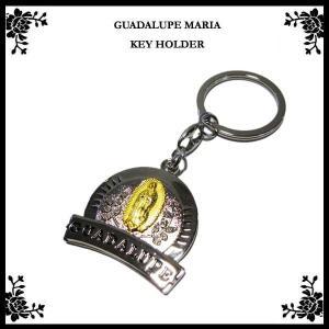 GUADALUPE MARIA メタルキーホルダー(エンブレムタイプ)マリア様 雑貨 メキシコ グッズ キーリングキーチェーン ネコポス発送OK|aicamu