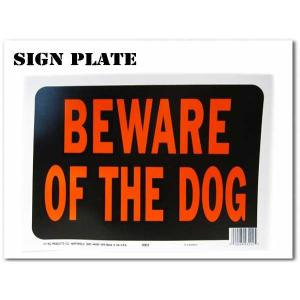 サインプレート【BEWARE OF THE DOG ブラック(犬に用心)】飾るだけでおしゃれでアメリカンなボード★ネコポス発送可能|aicamu