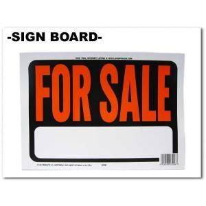 FOR SALE サインボード 文字:オレンジ 飾るだけでおしゃれでアメリカンなボード ネコポス発送可能|aicamu