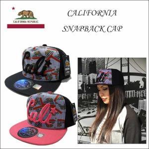 #27 CALI 刺繍キャップ(筆記体/総柄)大人サイズ 全2色 オシャレなストレートタイプ帽子アメリカ直輸入CALIFORNIA カリフォルニア雑貨 aicamu