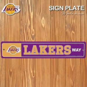 ロサンゼルスレイカーズロングサインプレート(ラメ/40.5cm)NBALos Angeles Lakers公式ライセンスグッズサインボード飾り インテリア アメリカ直輸入品|aicamu
