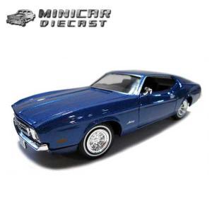 ミニカー 1/24 箱入り 1971 FORD MUSTANG SPORTSROOF ブルーメタリック アメ車 フォードマスタング スポーツルーフ|aicamu