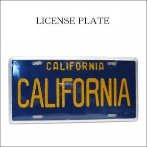 CALIFORNIA ナンバープレート(ブルー) カリフォルニア インテリアにも ライセンスプレート LOS ANGELES DODGERSファン ネコポス発送可能|aicamu