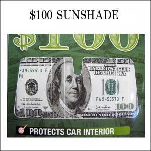 100ドル札柄 サンシェード $100カーアクセサリー車SUNSHADE サンシェイド バイザー 日よけアメリカ直輸入|aicamu