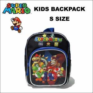 スーパーマリオ グッズ バックパック(ブラックSサイズ26cm) リュックサック 2-3歳の幼児サイズ アメリカ直輸入|aicamu