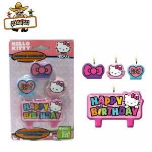 キティちゃん パーティーキャンドル(4ピースセット)お誕生日 ケーキ 飾り|aicamu