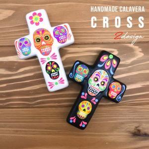 ハンドメイド グアダルーペマリア×カラベラ クロス壁掛け(厚め)全2種類 メキシコ雑貨には欠かせないカラベラ MEXICOグッズマリアグッズ|aicamu