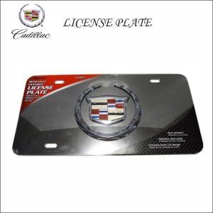 #01 CADILLAC 3Dデザインナンバープレート USサイズ キャデラックライセンスプレート エンブレム LICENSE PLATE アメリカ直輸入車内インテリアにも PILOT社|aicamu