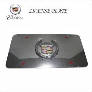 #02 CADILLAC 3Dデザインナンバープレート USサイズ キャデラックライセンスプレート エンブレム LICENSE PLATE アメリカ直輸入車内インテリアにも|aicamu