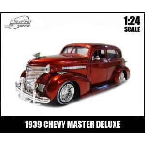 ミニカー 1/24 箱入り 1939 MASTER DELUXE ワイヤーホイール キャンディレッド アメ車 マスターデラックス|aicamu