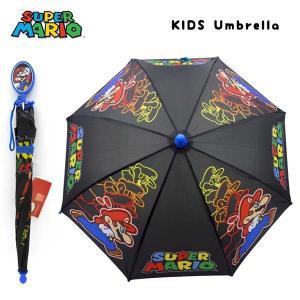 スーパーマリオ グッズ 持ち手キャラクター付き傘 親骨の長さ:約41cm (身長100-115cm)|aicamu