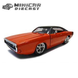 ミニカー 1/24 箱入り 1970 DODGE CHARGER R/T 朱色 ダッジチャージャー アメ車|aicamu