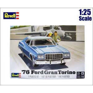1:25 アメ車 プラモデル '76 Ford GranTorino【Revell 85-4412】1976年式フォード グラントリノ ミニカー|aicamu