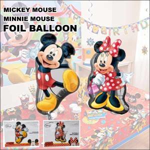 ミッキーマウス&ミニーマウス パーティーバルーン 風船バースデー飾り ディズニー お誕生日会 MICKEY MOUSE MINNIE|aicamu