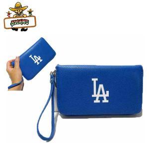 ロサンゼルス ドジャース ラウンドファスナー財布 MLB L.A DODGERS ウォレット|aicamu