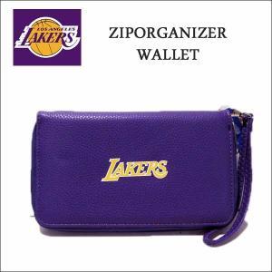 ロサンゼルスレイカーズ ラウンドファスナー財布 NBA Los Angeles Lakers ウォレット|aicamu