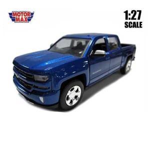 ミニカー 1/24 箱入り 2017 CHEVY SILVERADO 1500 LT Z71 CREW CAB メタリックブルー シルバラード アメ車|aicamu