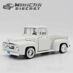 【MOTOR MAX】ミニカー 1/24 箱入り 1956 FORD F-100 PICKUP ホワイト フォード ピックアップ アメ車|aicamu