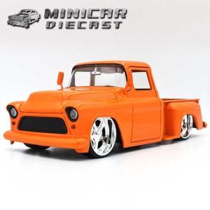 ミニカー 1/24 箱入り 1955 CHEVY STEPSIDE オレンジ シェビーステップサイド|aicamu